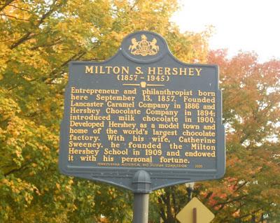 Milton S. Hershey Historical Marker in Pennsylvania