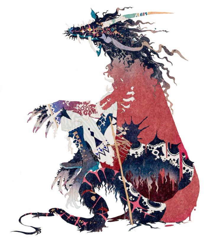 Belle (Ryuu to Sobakasu no Hime) anime film - Mamoru Hosoda - diseño del dragón (Akiya Kageichi)
