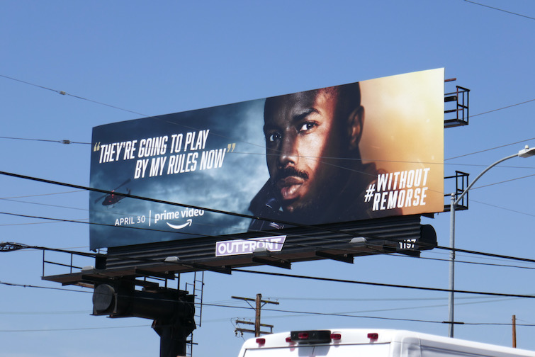 Michael B Jordan Without Remorse billboard