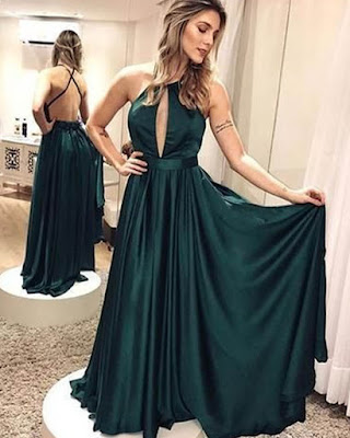 vestido formal verde largo 2019