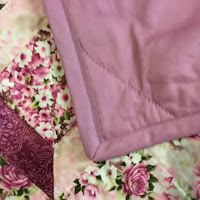 Pink Floral Quilt close up