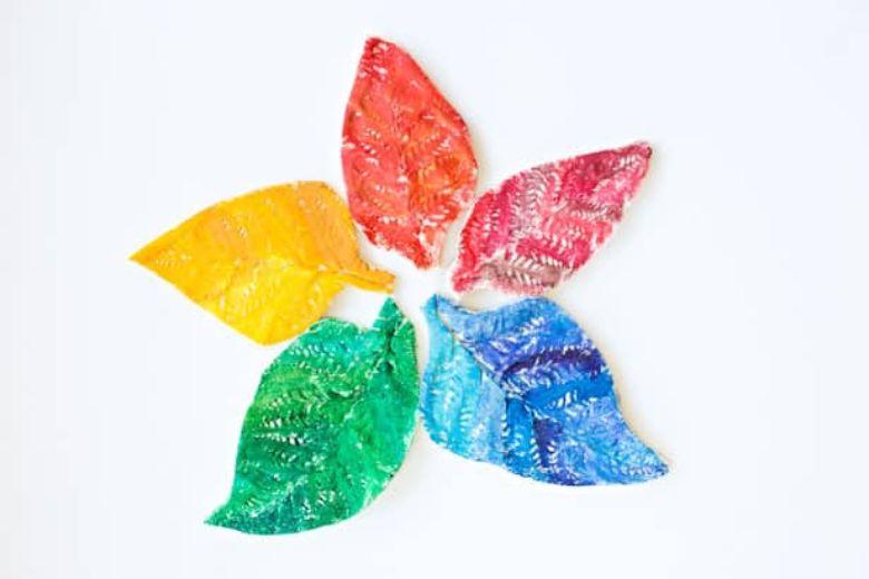 Salt dough ideas - leaf craft