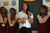 Actress Priya Anand in T Shirt with Students of Shiksha Movement Events 47.jpg