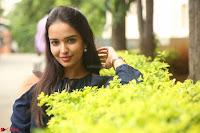 Poojita Super Cute Smile in Blue Top black Trousers at Darsakudu press meet ~ Celebrities Galleries 084.JPG