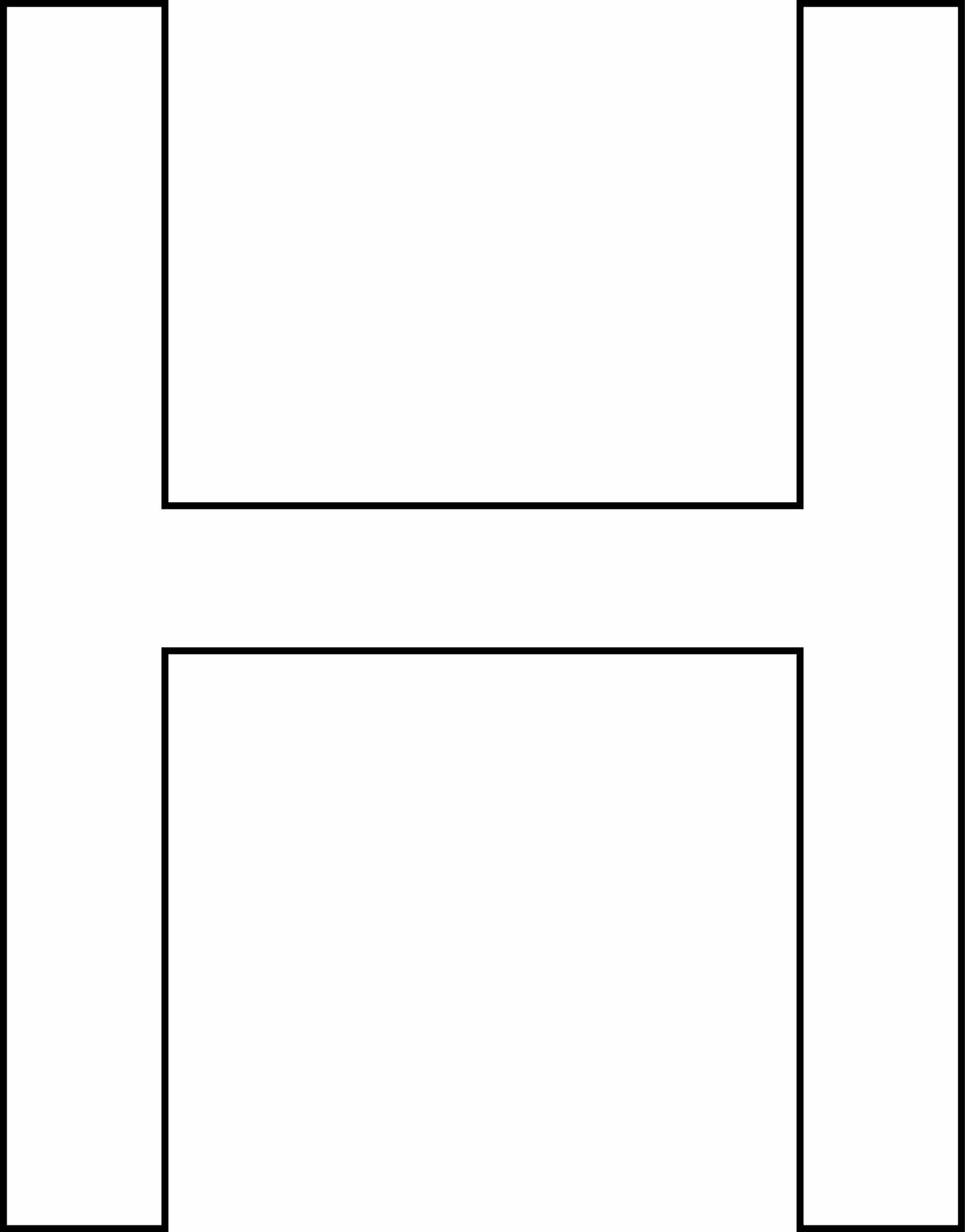 Letra h - maiúscula para imprimir