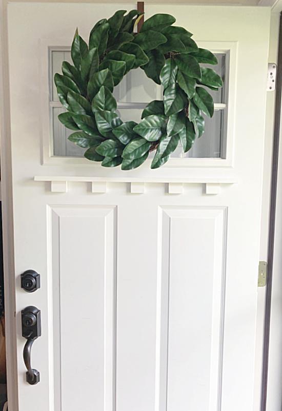 full front door with wreath