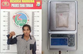 Penyalahgunaan Narkotika, Seorang Warga Mamasa Diamankan Polres Tana Toraja