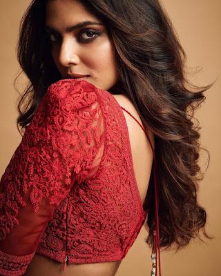 Actress Malavika Mohanan Latest Hot Photos in Red Dress