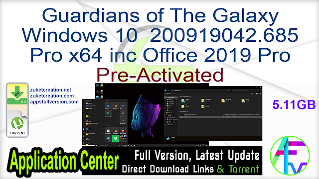 Guardians of The Galaxy Windows 10 200919042.685 Pro x64 inc Office 2019 Pro Pre-Activated