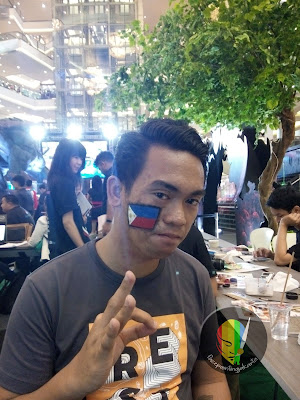Asia Pacific Predator League 2018 Jakarta-face painting Bendera Philippines