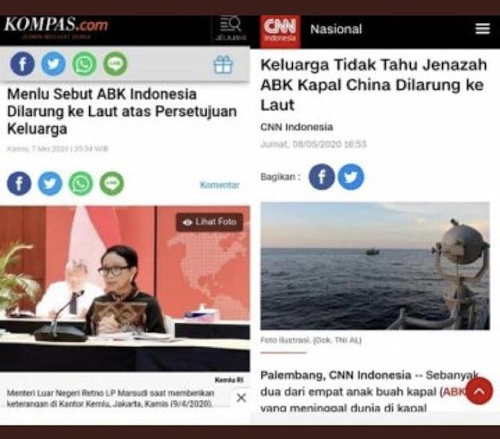 Sudjiwo Tedjo Bandingkan Pengakuan Keluarga ABK Kapal China dan Menlu: Mengizinkan Tak Harus Tahu