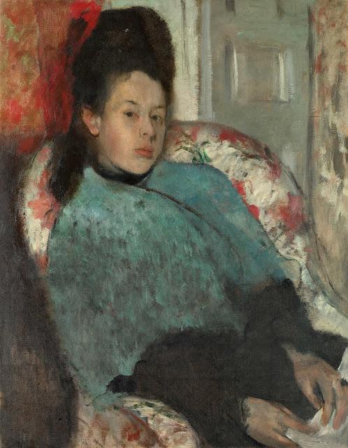 Эдгар Дега - Портрет Елены Карафа (1873-1874)
