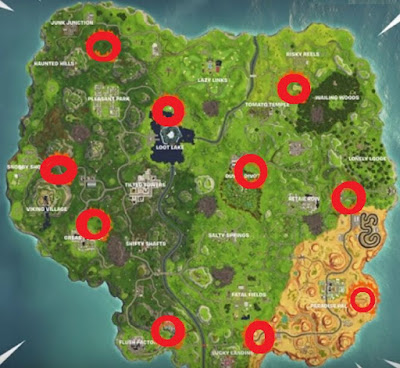Flaming Hoop Locations, Guide With Map, Fortnite, Season 6, Week 5