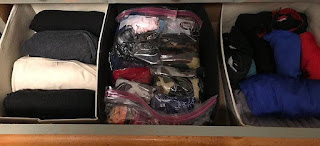 After: middle drawer (t-shirts, head wear, swim suits)