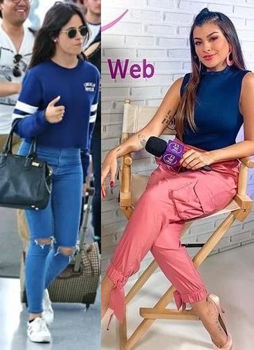 Looks cor do ano Classic Blue, Camila Cabello, Nah Cardoso