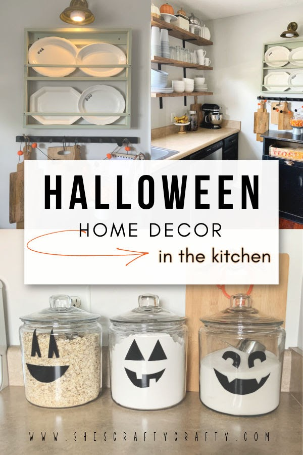 Halloween Home Decor in the kitchen