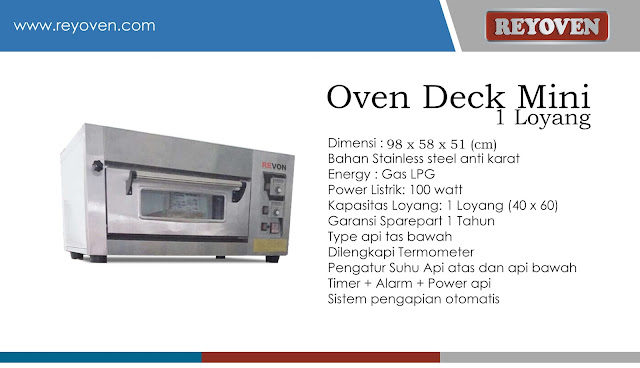 Oven Deck Mini Otomatis - Import Taiwan