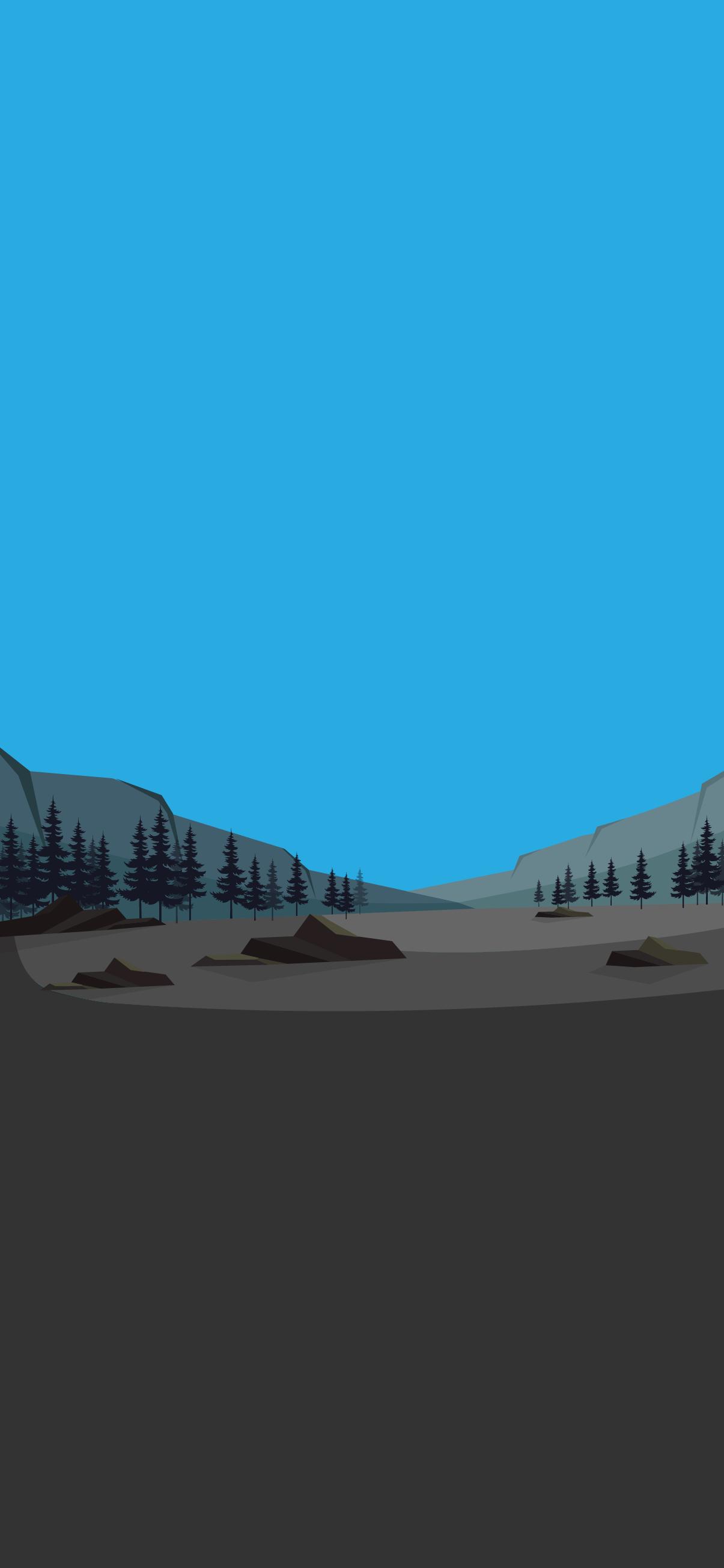 minimalist landscape wallpaper iphone