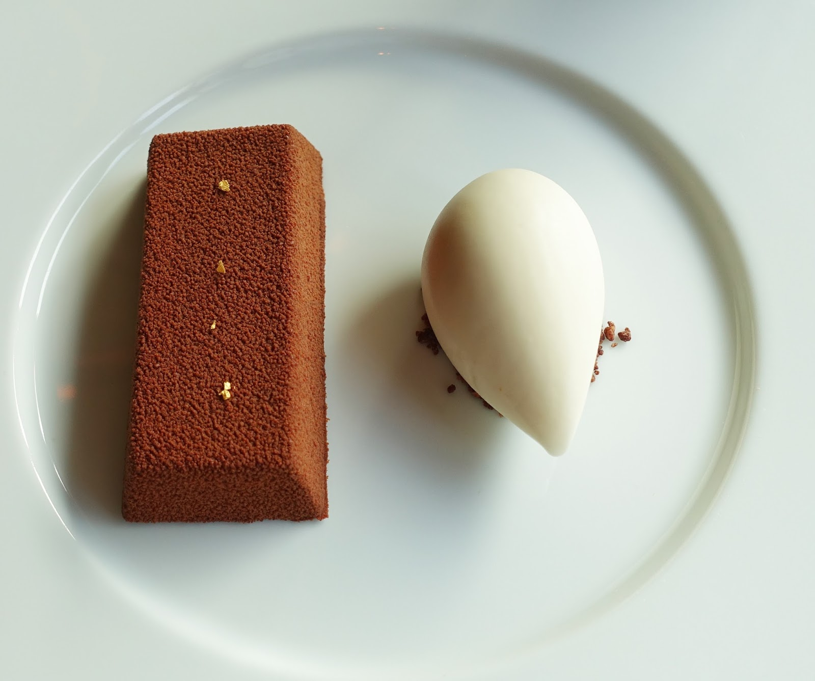One of the original puddings at Dinner by Heston, Chocolate Bar with passion fruit jam and ginger ice cream