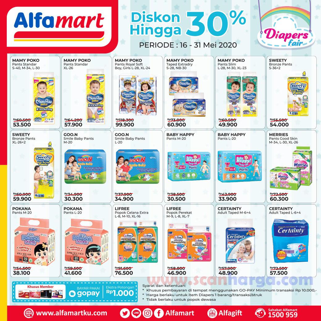 Promo Pampers Alfamart Periode 16 - 31 Mei 2020 Diskon Hingga 30%