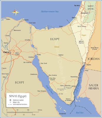 Ägypten sinai karte