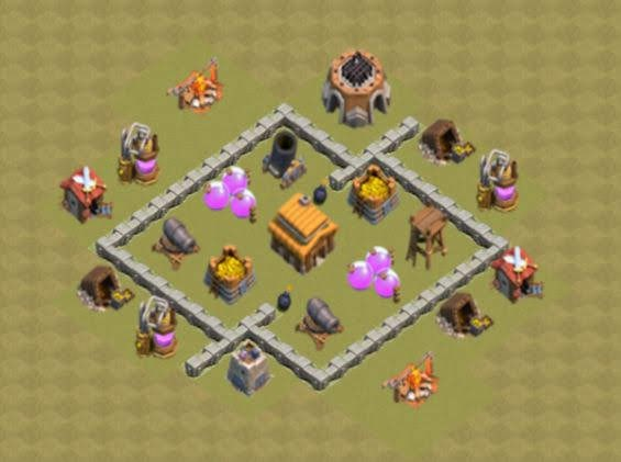 Base COC TH3 War 1