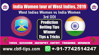 Who will win Today Womens ODI, 3rd ODI Match IN-W vs WI-W 3rd ODI, Sure Win tips