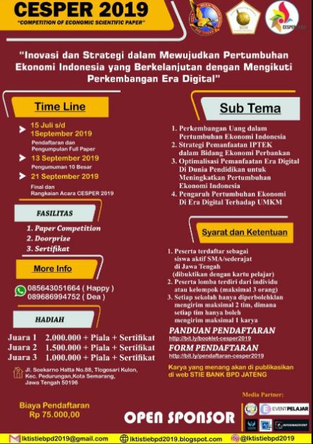Lomba Karya Tulis Ilmiah 2019 di STIE BANK BPD JATENG