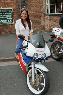 Brigg Bike Night 2019 organiser Lucy Fensome outside her Yarborough Hunt pub