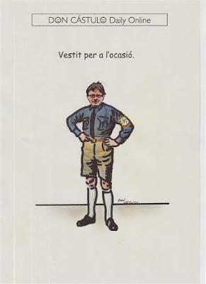 Carles Puigdemont, nazi, traje alemán