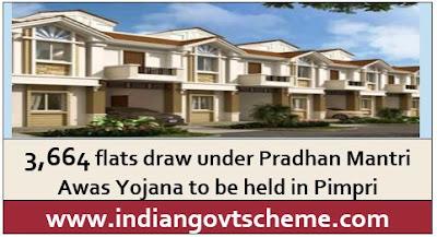 3,664 flats draw under Pradhan Mantri Awas Yojana to be held in Pimpri