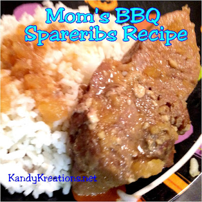 Enjoy a little bit of home cooking, with Mom's homemade BBQ spareribs.  Add some creepy names and you have an easy recipe for a Halloween dinner party or a little bit of southern Home cooking any time of the year!