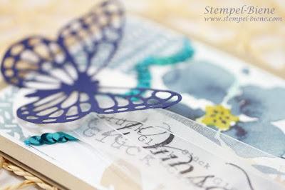 Designerpapier Englischer Garten, Stampin Up Englischer Garten, Stempel-biene, Grußkarte Schmetterlinge, Stampin up bestellen, Stampin Up Katalog 2015, Match the sketch