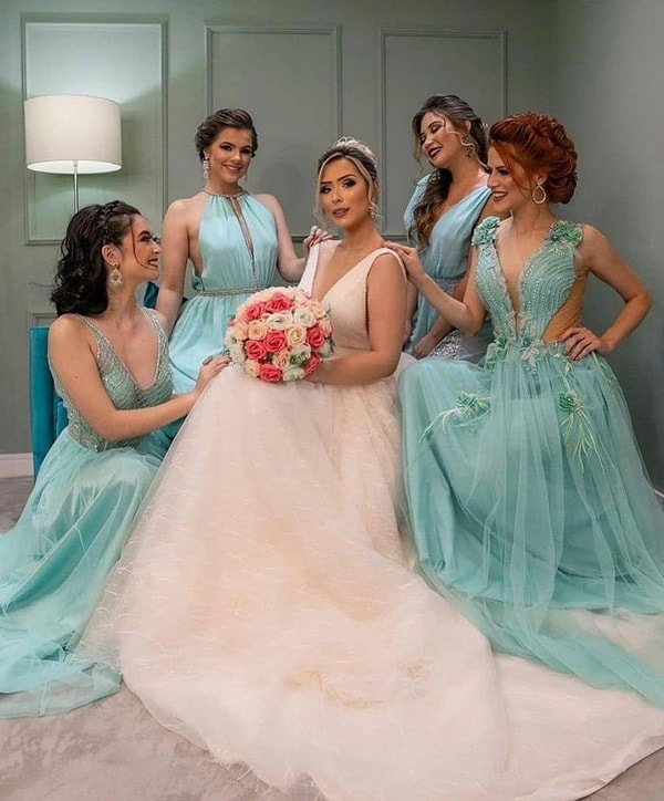 Ideias de fotos de noiva e madrinhas de casamento juntas