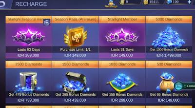 Cara Top Up Mobile Legend 3000 Diamond