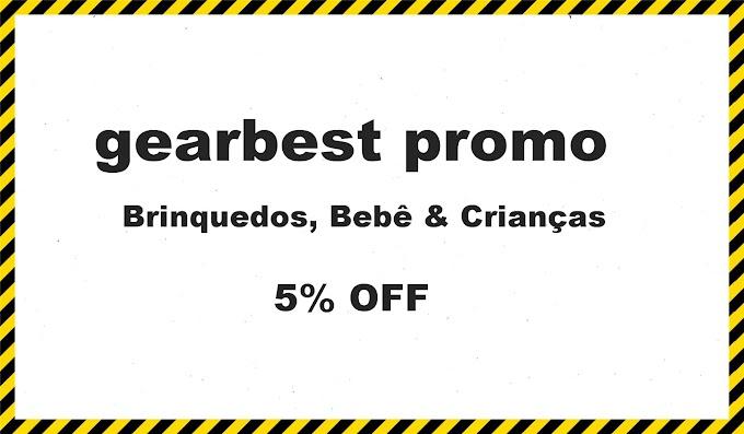 gearbest promo 5% OFF! Brinquedos, Bebê & Crianças