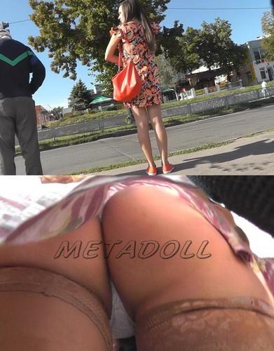 Sexy college girls - Spycam upskirt of girls on the bus stop. Hidden camera upskirts in subway (100Upskirt 4665-4712)