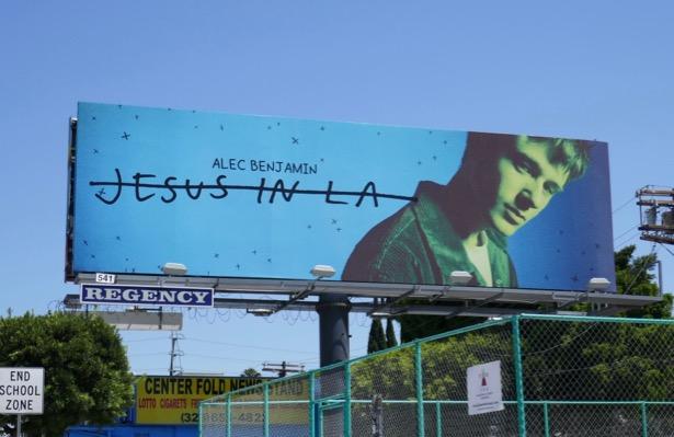 Alec Benjamin Jesus in LA billboard