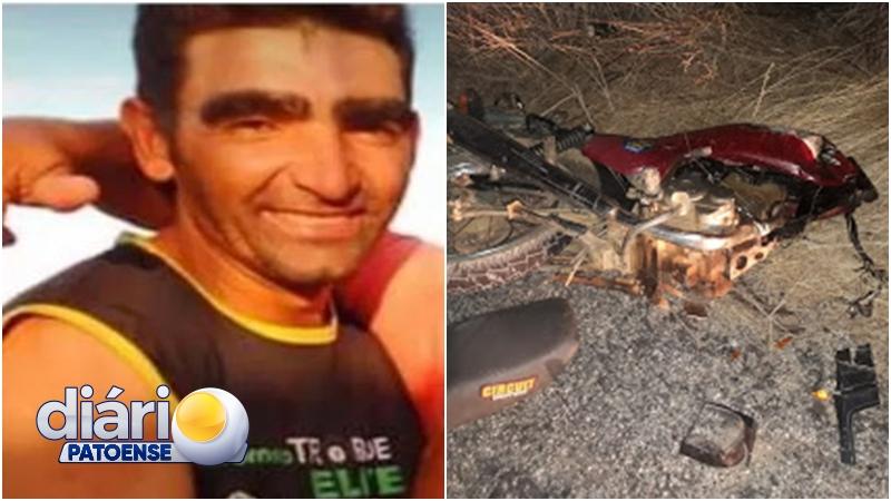 Homem morre após colidir a moto em um carro, entre Quixaba e Cacimba de Areia