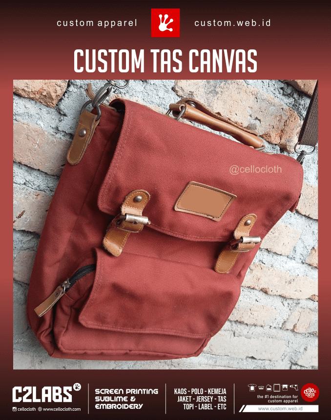 Bikin Custom Tas Canvas Bordir - Konveksi Tas Jogja