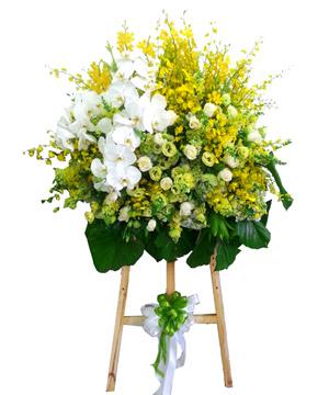 Kết quả hình ảnh cho Các mẫu hoa khai trương màu sáng
