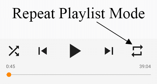 Turn Repeat Mode On and Off in VLC for Android