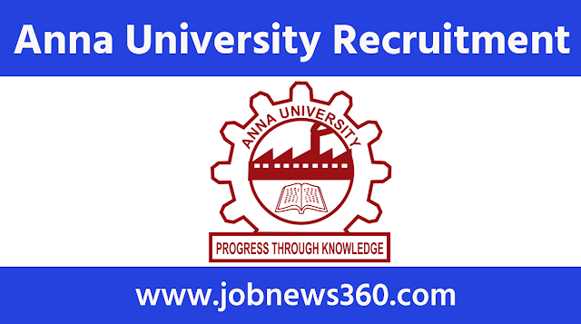 Anna University Recruitment 2020 for Junior Research Fellow