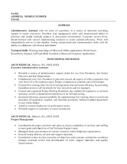 Medical Administrative Assistant Skills Resume