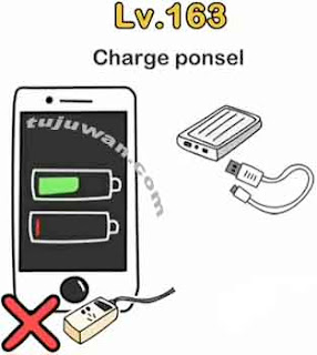 Brain out charger ponsel