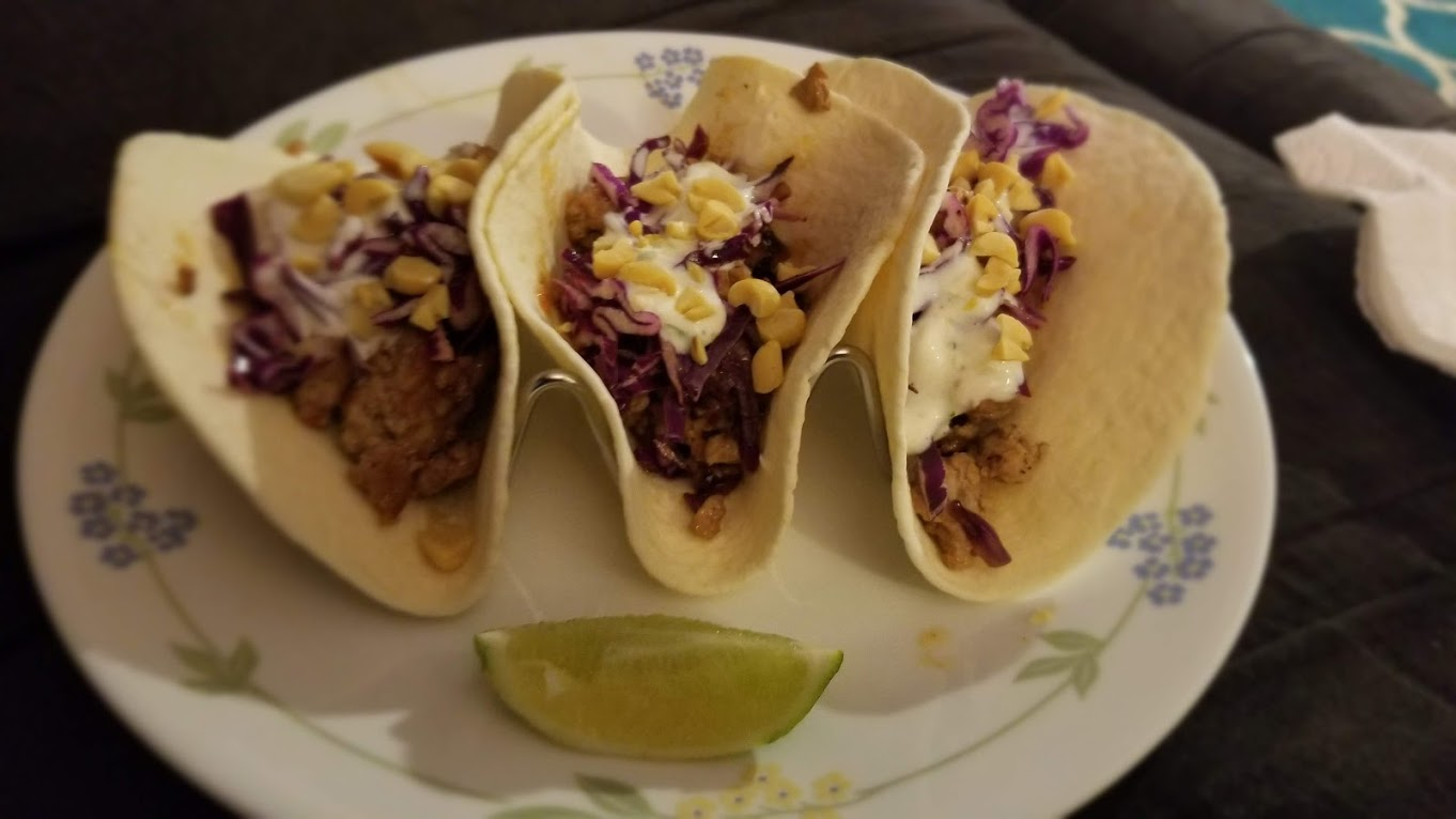 Sweet Chili Pork Tacos, from EveryPlate