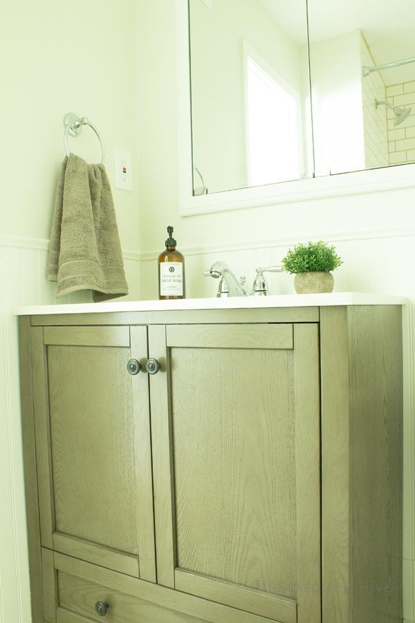 Simple Farmhouse Bathroom Makeover One Room Challenge