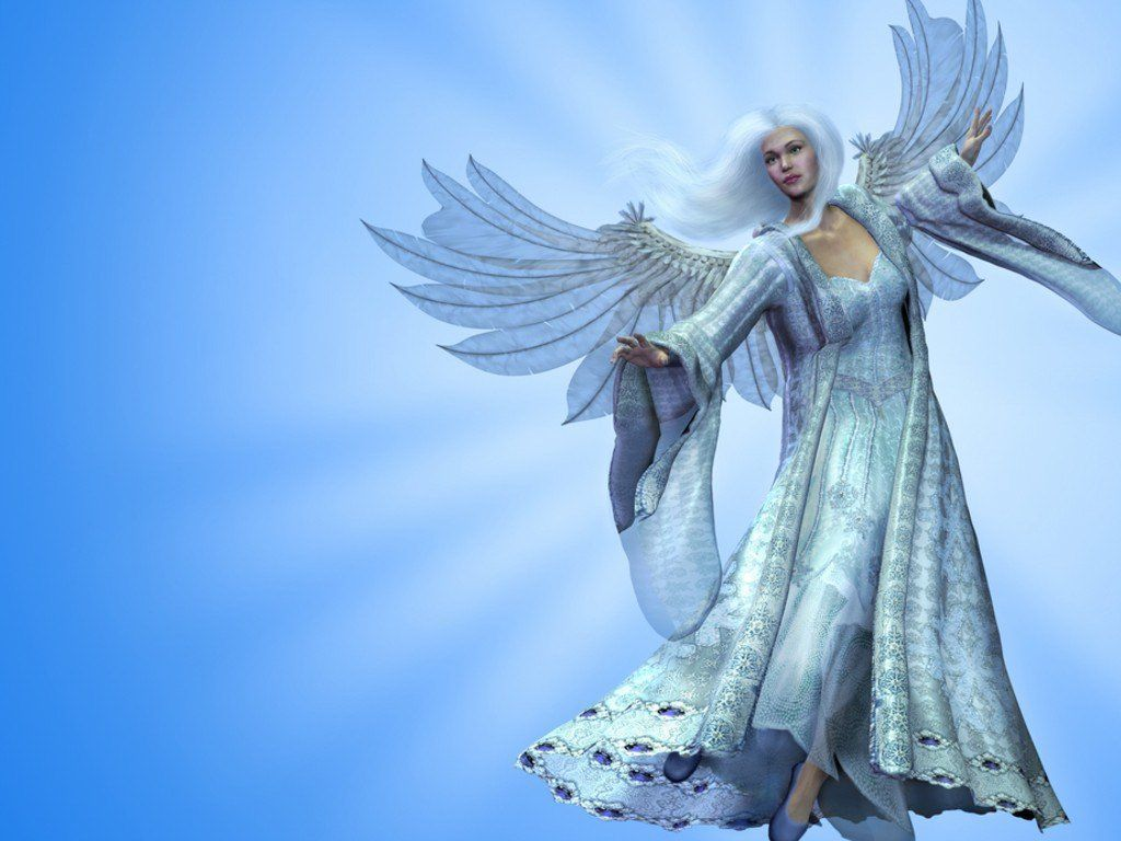 Angels Wallpapers For Desktop 3d: 3D White Beautiful Angel Background Wallpapers