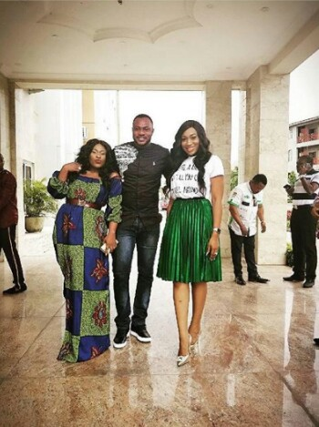 Actro Odunlade Adekola Spotted with Actress  Uche Jombo and Ebube Nwagbo  at Glo Laughter show