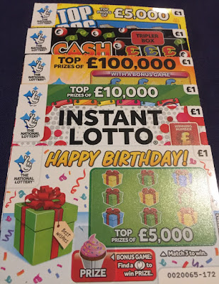 National Lottery Scratch Cards From February 2019